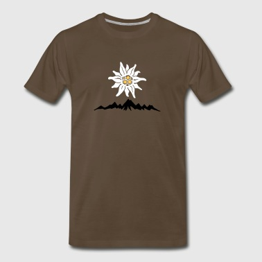Mountains Edelweiss - Men's Premium T-Shirt