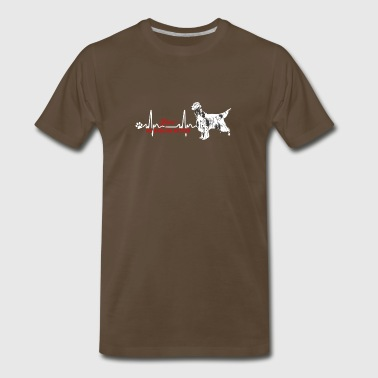 English Setter Heartbeat Shirt - Men's Premium T-Shirt