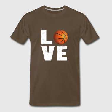Basketball love - Men's Premium T-Shirt