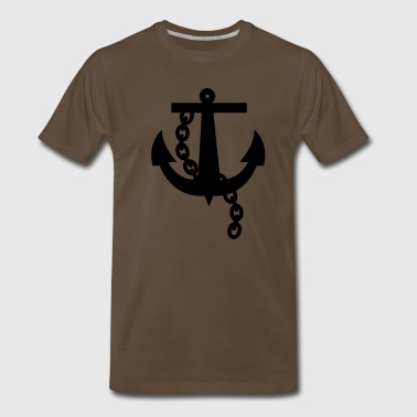 a navy anchor - Men's Premium T-Shirt