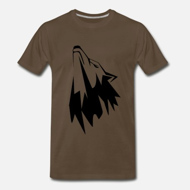 Animals Tattoo Sketch Wolf animals tattoo sketch wolf - Men's Premium T-Shirt
