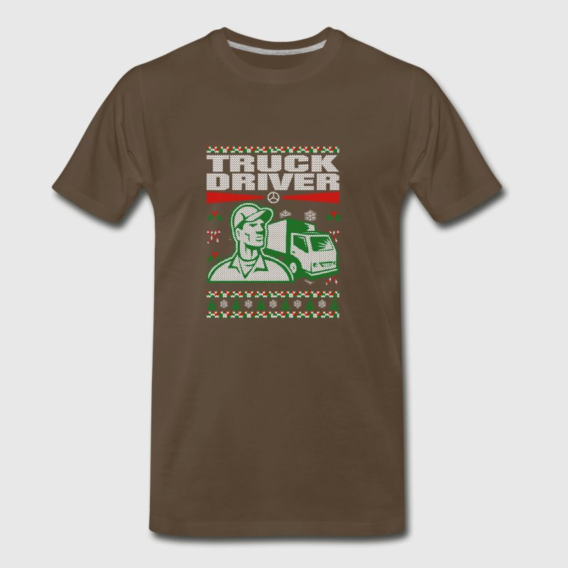 Truck Driver Ugly Christmas Sweater - Men's Premium T-Shirt