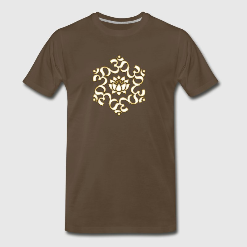 Om Lotus, Buddhism, Yoga, Meditation, spiritual - Men's Premium T-Shirt