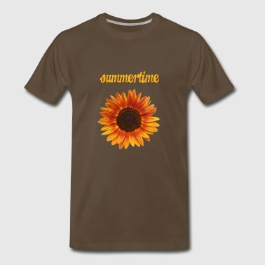 summertime - beautiful sunflower blossom - Men's Premium T-Shirt