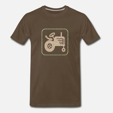Tractor Kid artTS glitter A TRACTOR kid gift - Men's Premium T-Shirt