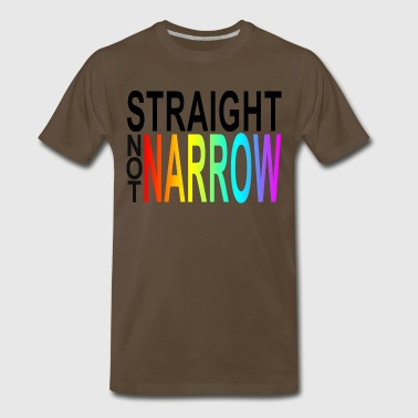 Gay Stick Man straight not narrow - Men's Premium T-Shirt