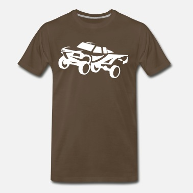 Trophy Offroad truck desert race white - Men's Premium T-Shirt