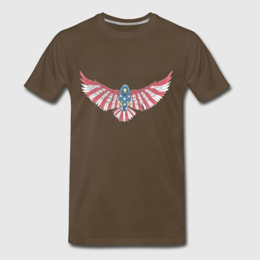 Fly America, Fly Eagle Flag - Men's Premium T-Shirt