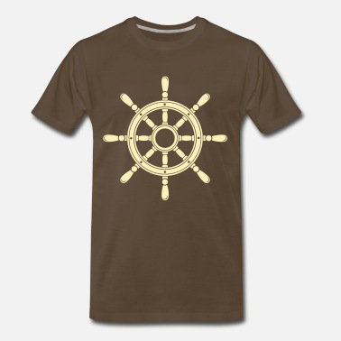 Wheel Steering wheel of the ship  - Men's Premium T-Shirt