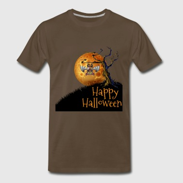 happy halloween with moon - Men's Premium T-Shirt