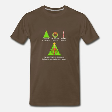 Deathly The Tree Of Christmas Together They Make Master - Men's Premium T-Shirt