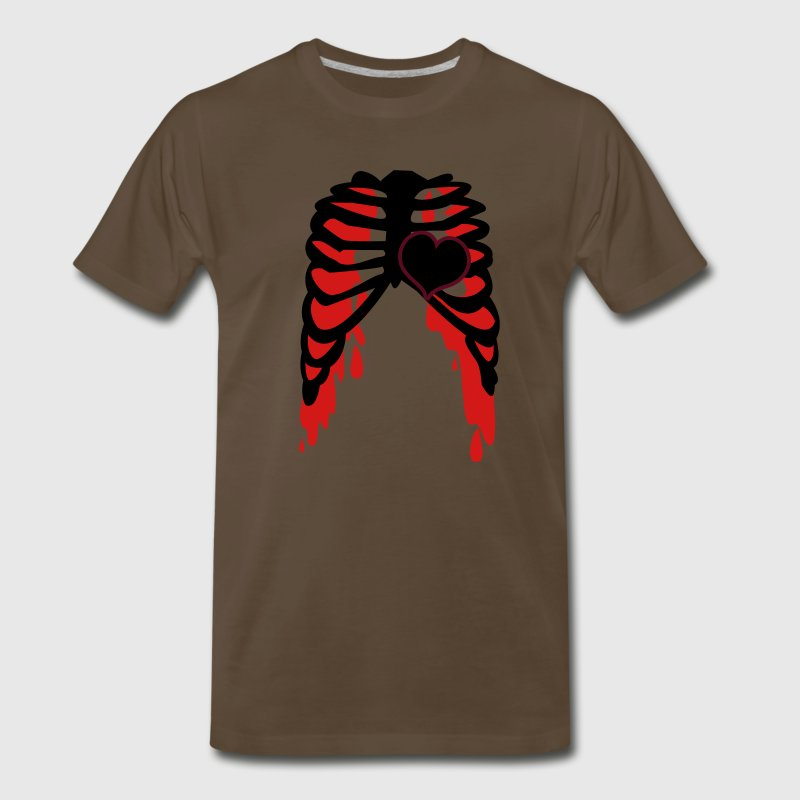 rib cage with love heart metal shirt - Men's Premium T-Shirt