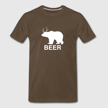 Beer Bear With Antlers Bear Deer Beer - Men's Premium T-Shirt