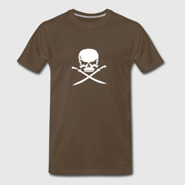 Biker Pirate Skull Bones Swords - Men's Premium T-Shirt
