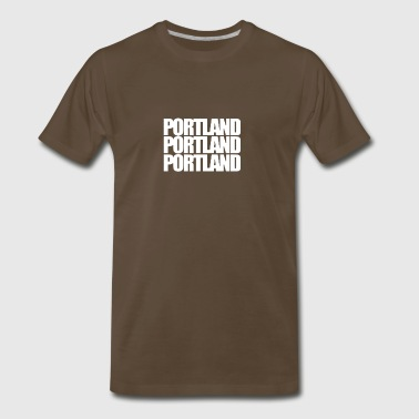 Portland three words - Men's Premium T-Shirt