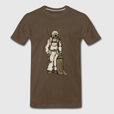Vintage Diver with Helmet Illustration - Men's Premium T-Shirt