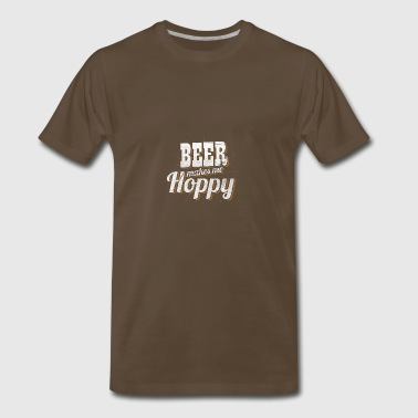 Funny beer Shirts - Beer makes me happy - Men's Premium T-Shirt