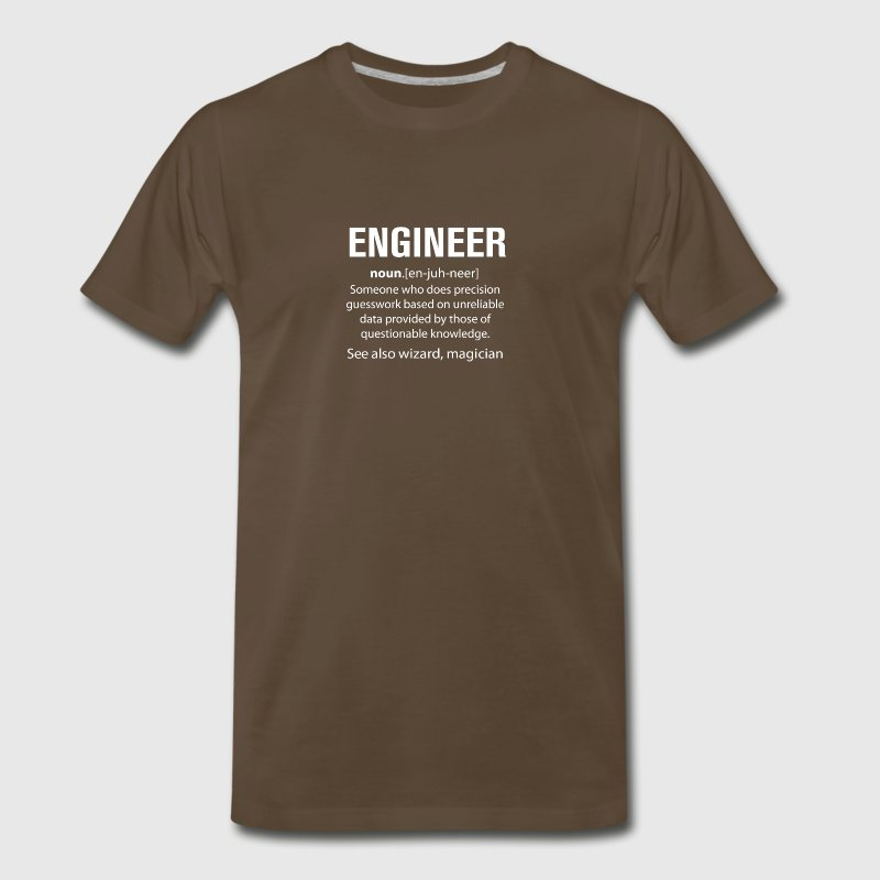 Engineer Does Precision Guess Work T Shirt - Men's Premium T-Shirt