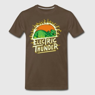 Angry Green Thunder Cyber System - Men's Premium T-Shirt
