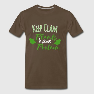 keep calm plants have protein - Men's Premium T-Shirt