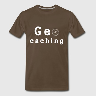 geocaching, cache, caching - Men's Premium T-Shirt