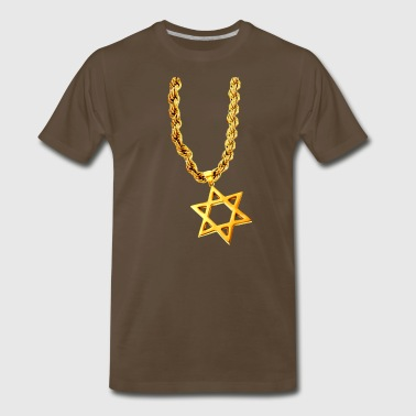 Gold Star of David - Men's Premium T-Shirt