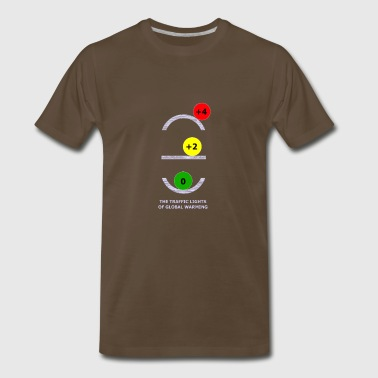 TRAFFIC LIGHTS OF GLOBAL WARMING - Men's Premium T-Shirt