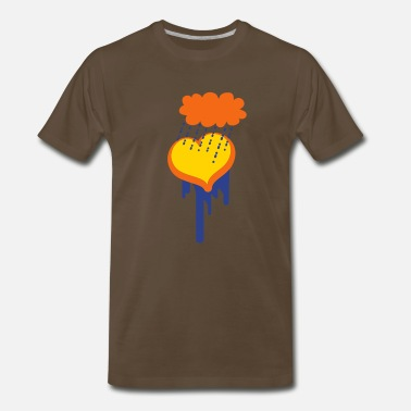 Dr Phil heart under a raincloud depression? - Men's Premium T-Shirt