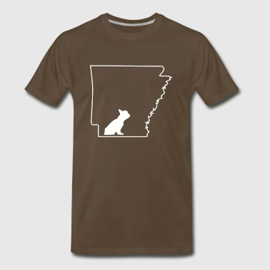 French Bulldog Frenchie Lover Arkansas Dog Shirt.png - Men's Premium T-Shirt