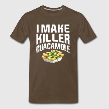 Funny Avocado TShirt - I Make Killer Guacamole - Men's Premium T-Shirt