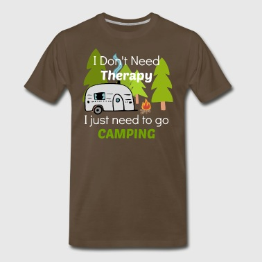 Camping Therapy Camping - Men's Premium T-Shirt