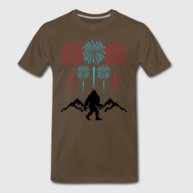 Bigfoot 4th Of July Shirts Fireworks Patriotic USA - Men's Premium T-Shirt