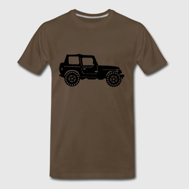 Jeep with Off Road Tires - Men's Premium T-Shirt