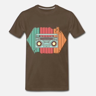 Back To The 90s Retro Radio Colorful Music Gift Idea Vintage Style - Men's Premium T-Shirt