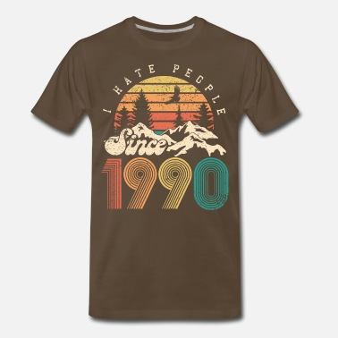Established Vintage 1990 - 30 years old - 30th birthday gift - Men's Premium T-Shirt