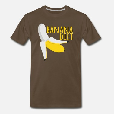 Slim Banana Diet - Vegan Diet - Just Banana - Men's Premium T-Shirt