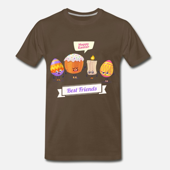 Easter T-Shirts - happy easter 283 - Men's Premium T-Shirt noble brown