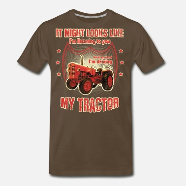 Tractor It might looks like listening driving TRACTOR red - Men's Premium T-Shirt