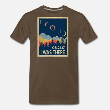 Nasa Starry Night Vintage I was there Solar Eclipse 2017 - Men's Premium T-Shirt