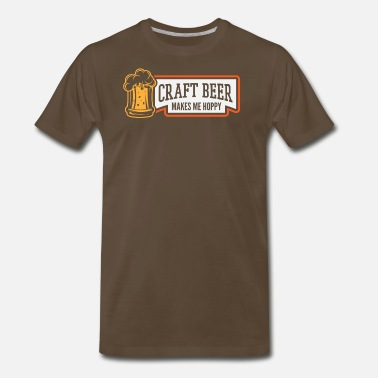 Pale Ale CRAFT BEER makes me hoppy! - Men's Premium T-Shirt
