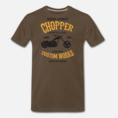 Spanner West Coast Chopper - Custom Works - Men's Premium T-Shirt