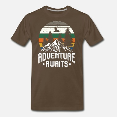 Adventure Adventure awaits - camping scout hiking - Men's Premium T-Shirt