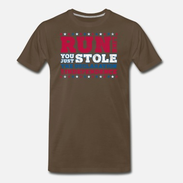 Athletic Trainer Gift Run Like You Just Stole The Independence Apparel - Men's Premium T-Shirt