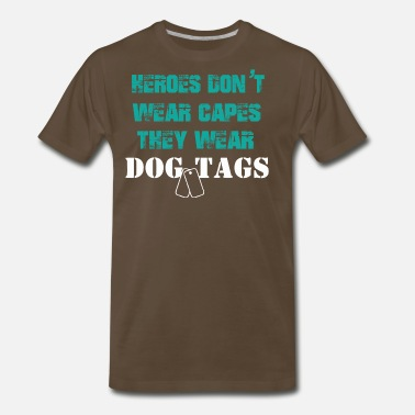 Army Tags HEROES DOG TAGS | Army,Navy,Police - Men's Premium T-Shirt