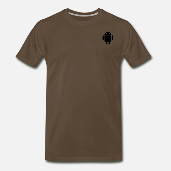 Android T-Shirts - android - Men's Premium T-Shirt noble brown