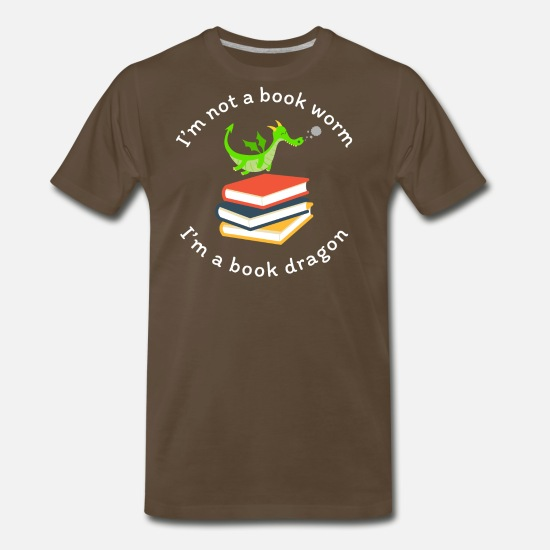I/_m a Book Dragon not a Worm Tshirt Reading Lover Zip Hooded Sweatshirt