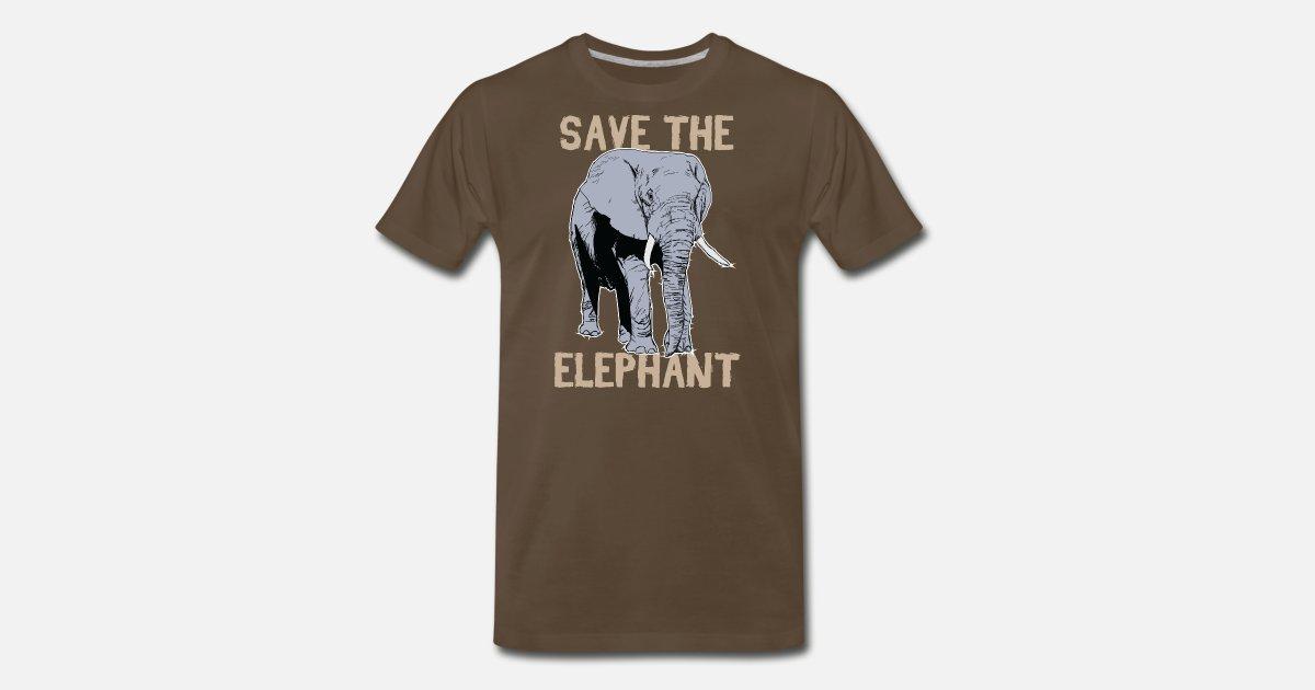 a24d6b84d Animal Print - Save The Elephant Men s Premium T-Shirt