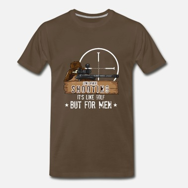Long Long Range Shooting Gun Hunter Shirt - Men's Premium T-Shirt