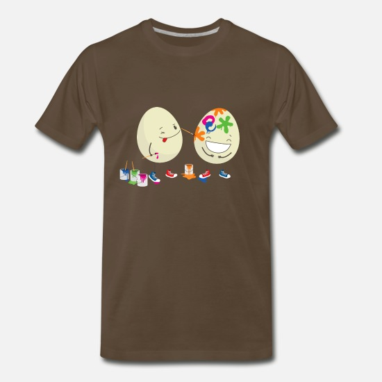 Easter T-Shirts - Funny Easter eggs - Men's Premium T-Shirt noble brown