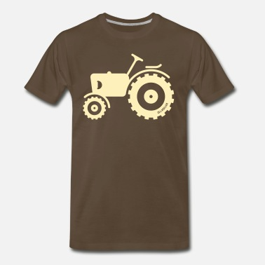 Traction Engine Motor Tractor / Traction Engine / Farm Machine - Men's Premium T-Shirt